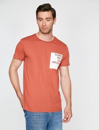 Koton Yazılı Baskılı T-Shirt Kırmızı